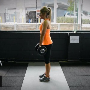 Stiff legged Dumbbell Deadlift exercise