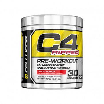 30 serves pack of Cellucor - C4 RIPPED in fruit punch flavour