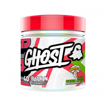 40 serves tub of GHOST - BURN in green apple flavour