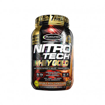 Muscletech - NitroTech 100% Whey Gold 5.5lbs (2.5kg) with chocolate flavour