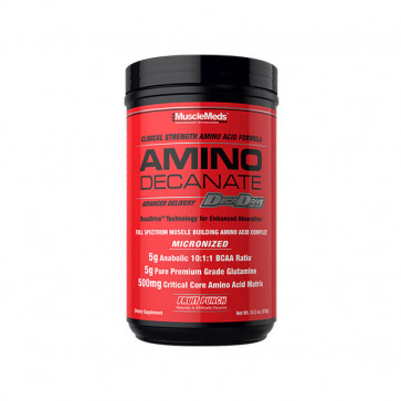 30 serve pack of MuscleMeds Amino Decanate  in fruit punch flavour