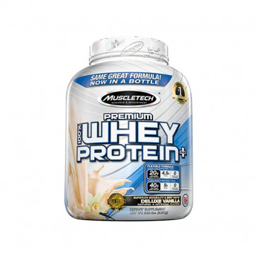 5LB(2.27kg) pack of Muscletech - Premium 100% Whey Plus with vanilla flavour