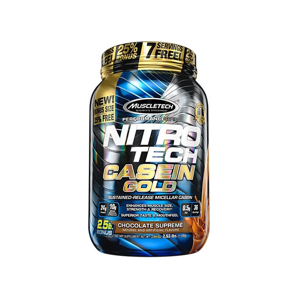 cd44bcf43 Muscletech - Nitro-Tech Casein Gold pack of 2LBS(1.13kg) with chocolate