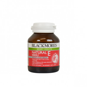 unflavoured pack of Blackmores - NATURAL E 250 IU with 50 capsules