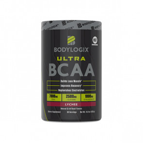 pack of Body Logix - Ultra BCAA for 30 serves with lychee flavour