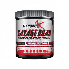 Dynamik Muscle - Savage Roar for 30 serves with a flavour of fruit punch
