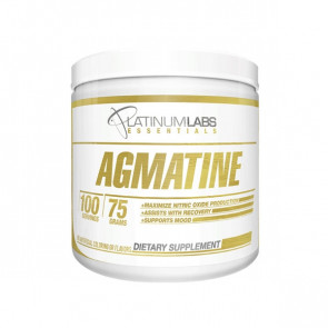unflavoured pack of Platinum Labs - Essentials - Agmatine for 100 serves