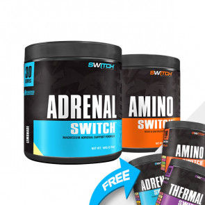 Switch nutrition - ADRENAL & AMINO Combo - Free assorted 10 pack!
