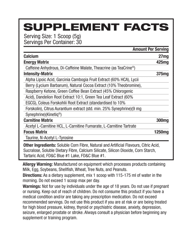 supplement facts about Pro Supps - DNPX